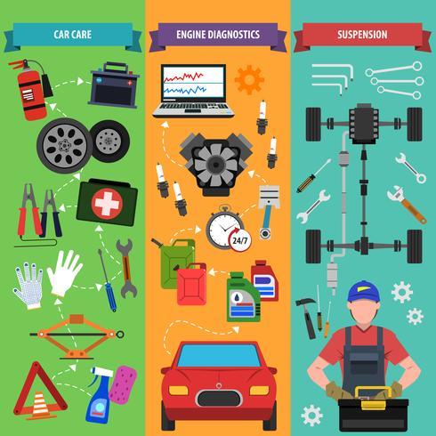 banner set voor autoservice