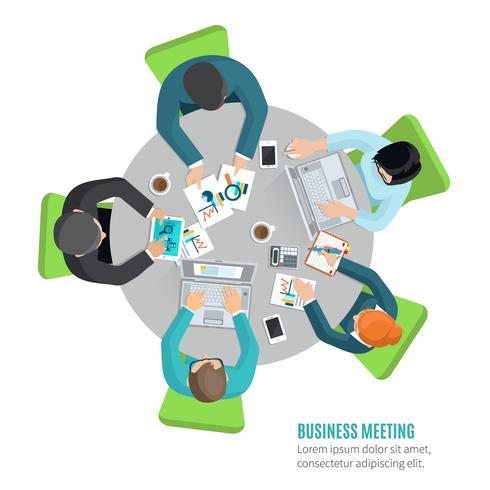 Business Meeting Flat