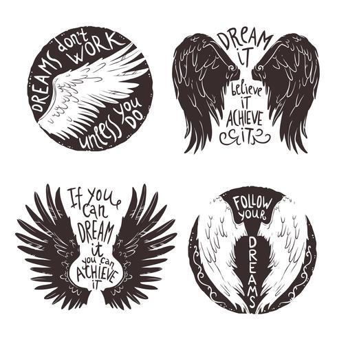 jeu d'étiquettes ailes