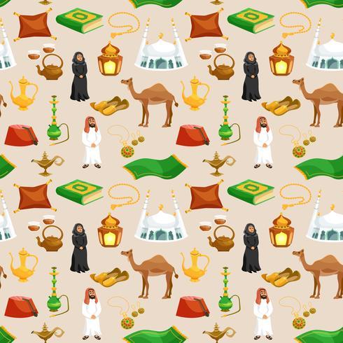 Cultura araba senza soluzione di continuità vettore