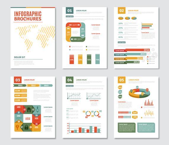 Infografik-Broschüren eingestellt vektor