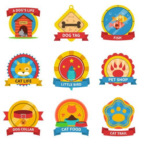 Set di etichette per animali domestici