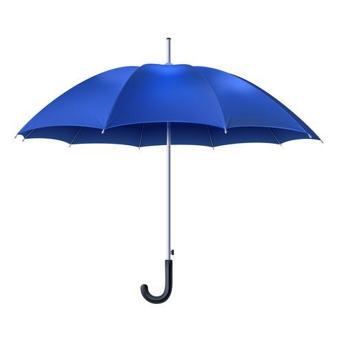 Realistiskt Blått Paraply