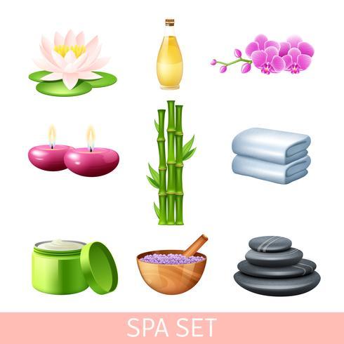 Spa y set de bienestar vector