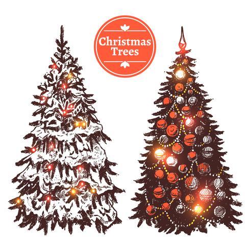 Handdragen julgranuppsättning