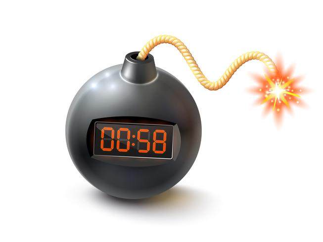 Bomb With Timer Illustration  vector