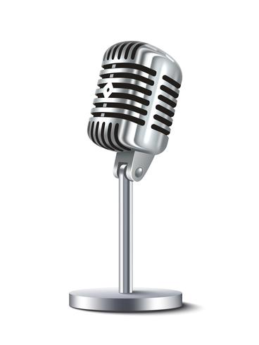 Weinlese-Mikrofon getrennt