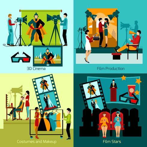 Cinema People Set vector