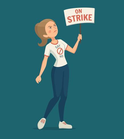Walkout Kvinna Illustration