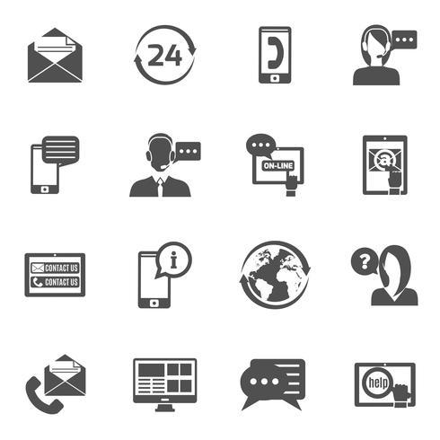 Contáctanos Icons Set