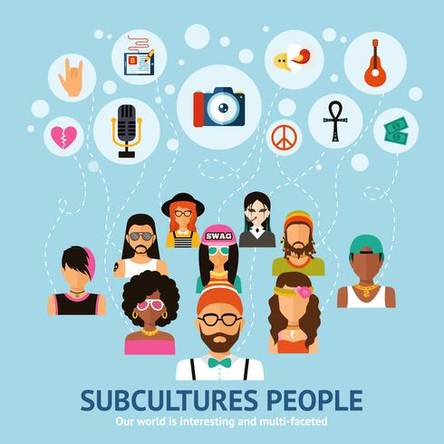 subkulturer människor koncept