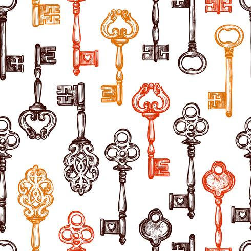 Padrão sem emenda chave vintage