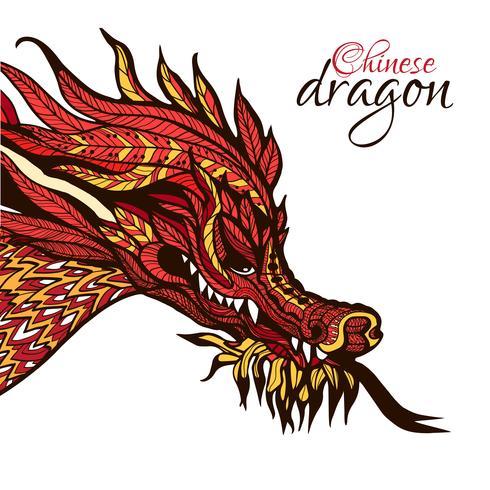 Dragon dessiné à la main