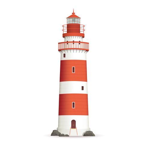 Realistic Lighthouse Illustration