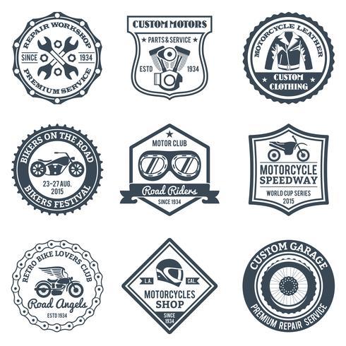 Etiquetas Motocicletas Negras