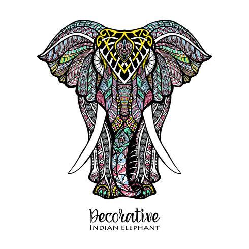 Elefante coloreado ilustración vector