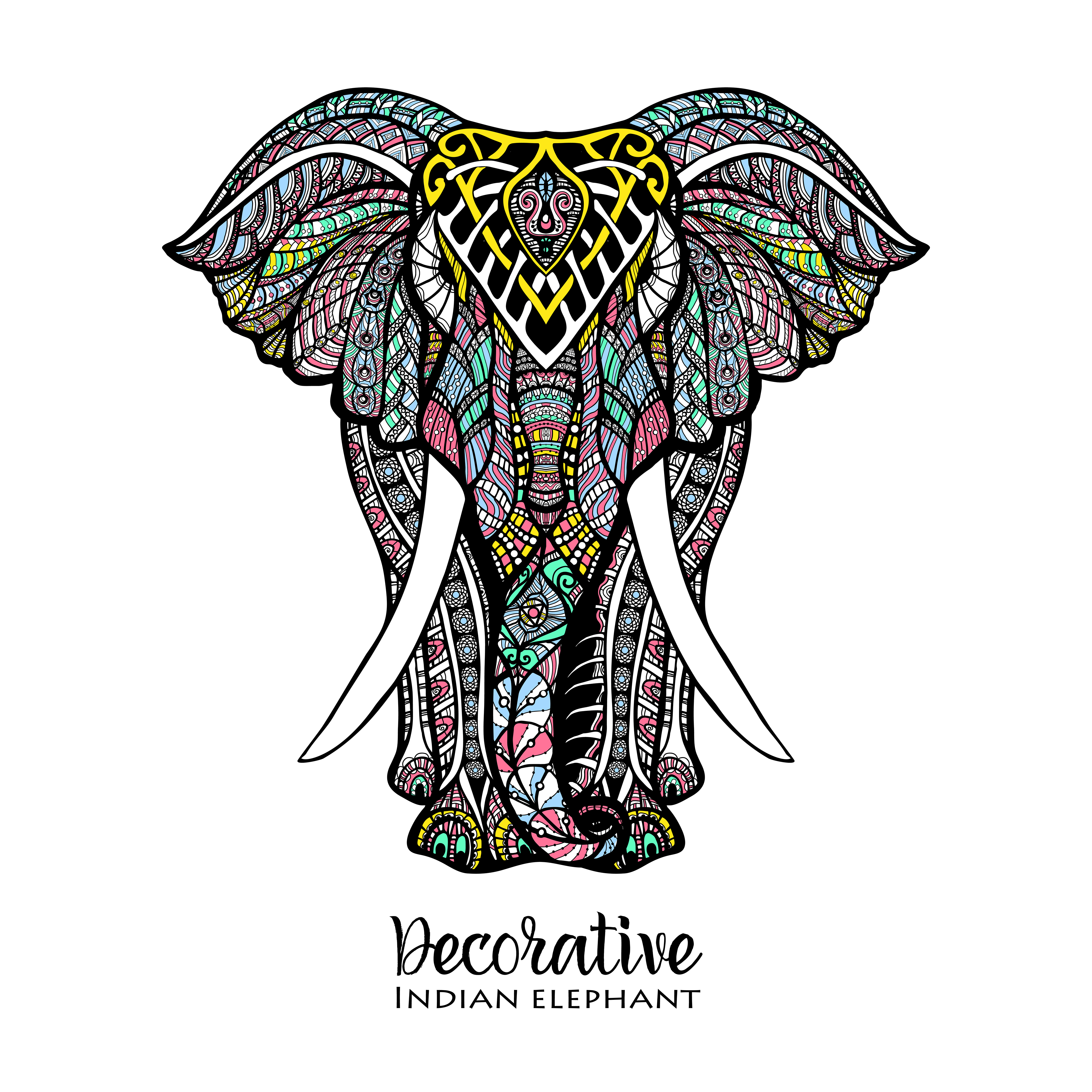 Illustration Couleur Elephant Telecharger Vectoriel Gratuit