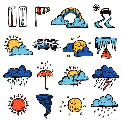 Weather Color Set vector