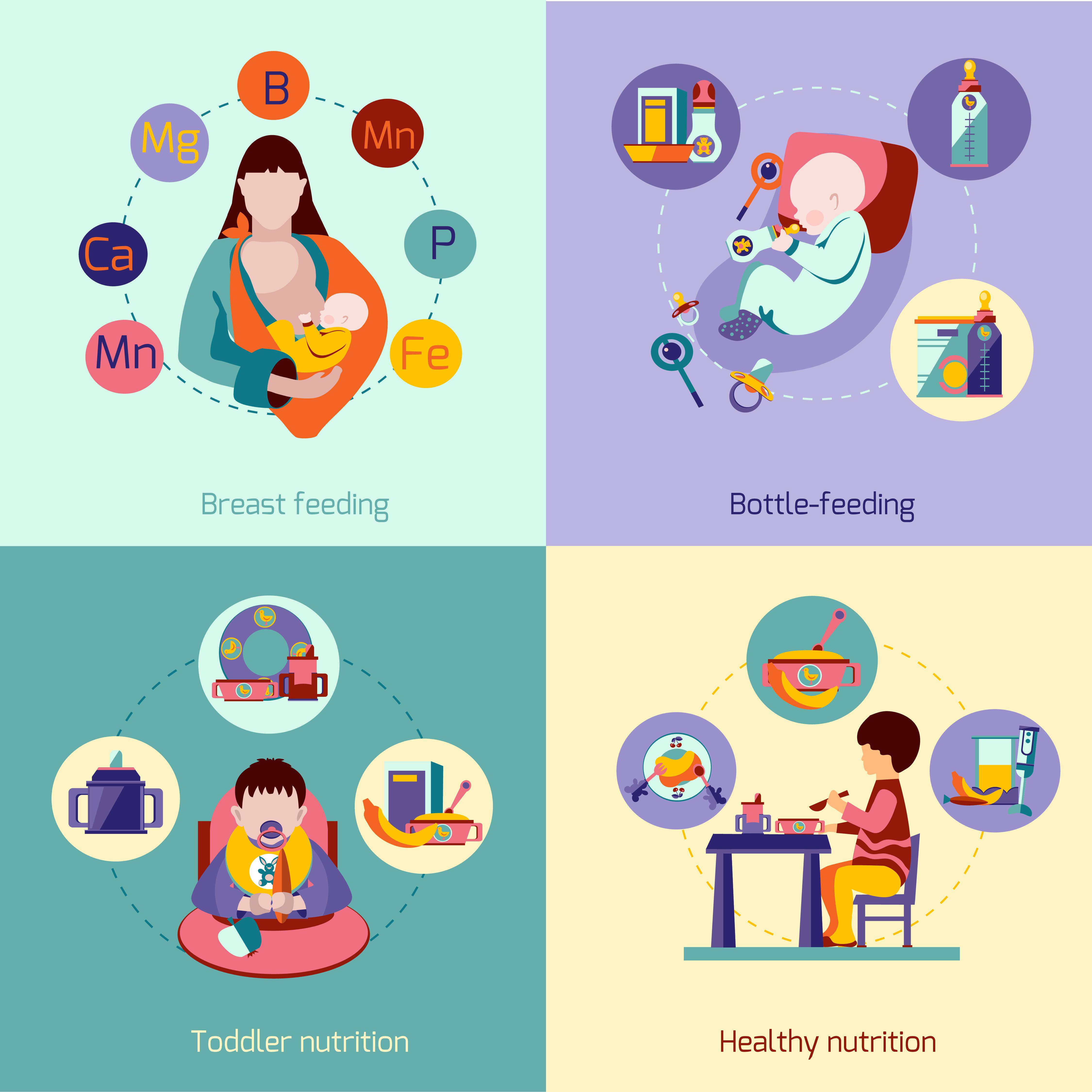 Baby Nutrition Set Download Free Vectors Clipart