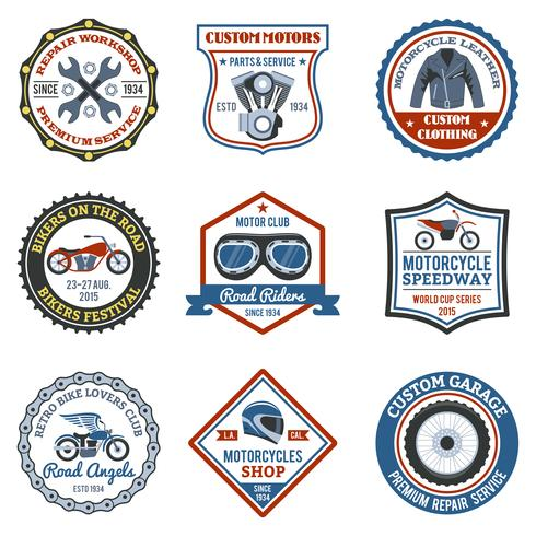Etiqueta de la motocicleta de color