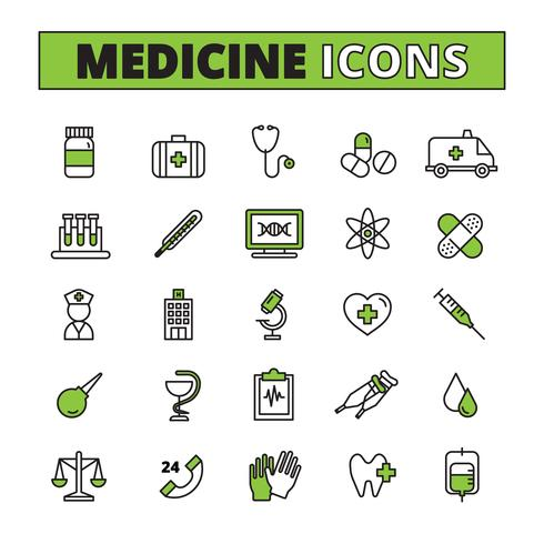 Medical Icons Set  vector