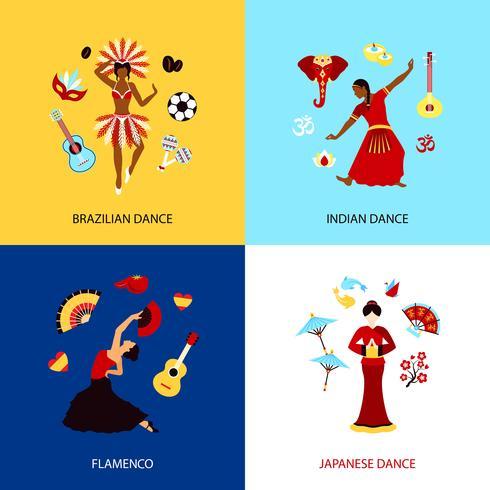 Concepto de diseño de baile de mujer vector