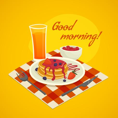 Breakfast Design Concept With Good Morning Wishing