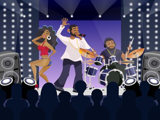 rap konsert scen vektor