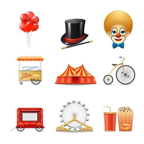 circus pictogrammen instellen vector