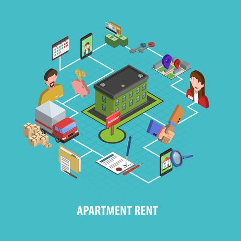 Real Estate Rent Concept vector