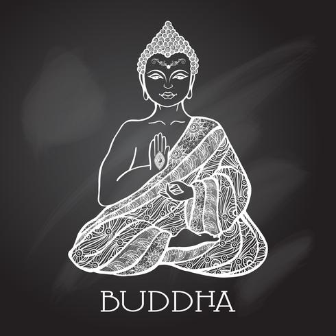 Kritbordet Buddha Illustration