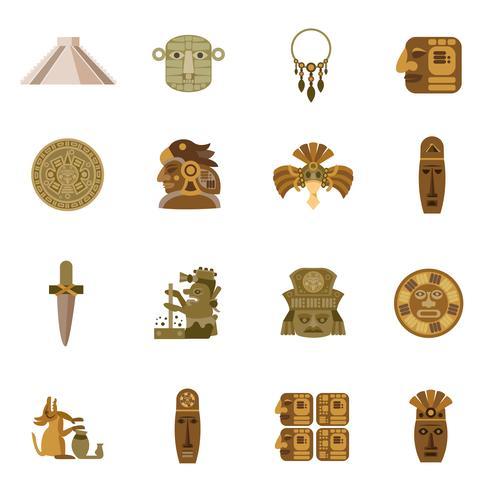 Icona piatta Maya vettore
