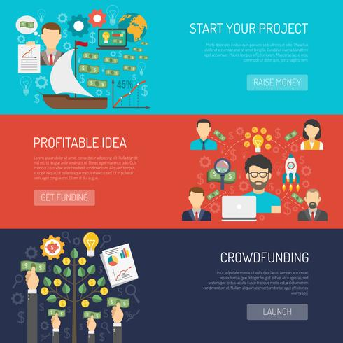 Crowdfunding Banner Set