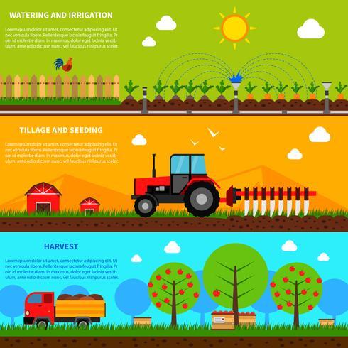 Landwirtschaft Banner Set