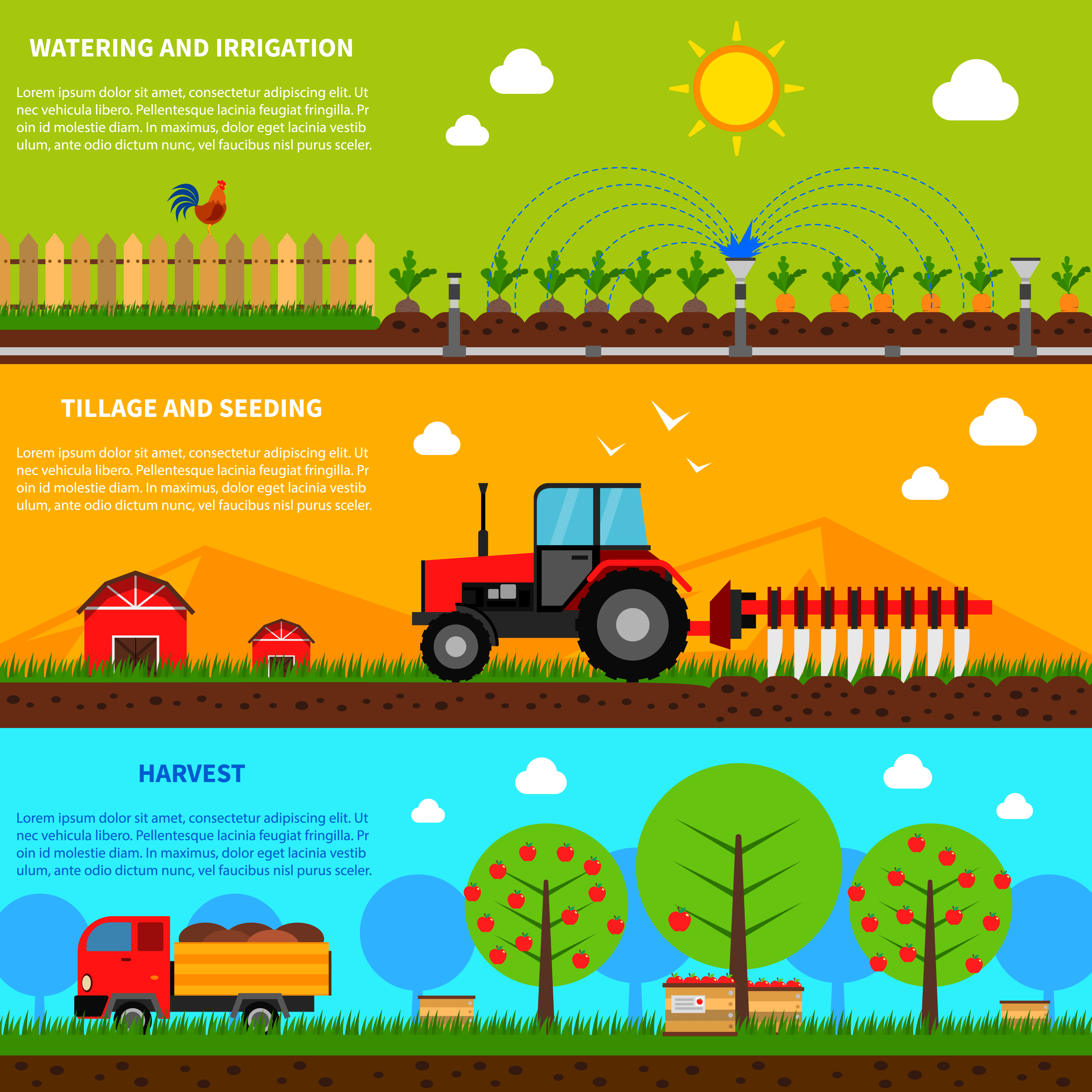 EPS Illustration - Agricultural vehicles concept. Vector Clipart gg88784635  - GoGraph