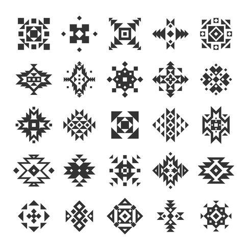 Conjunto de elementos geométricos étnicos