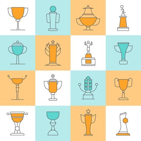 Awards Line Icons Set