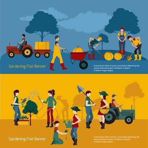 Ensemble de jardinage personnes