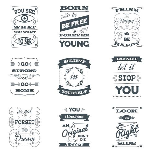 citaten typografie set