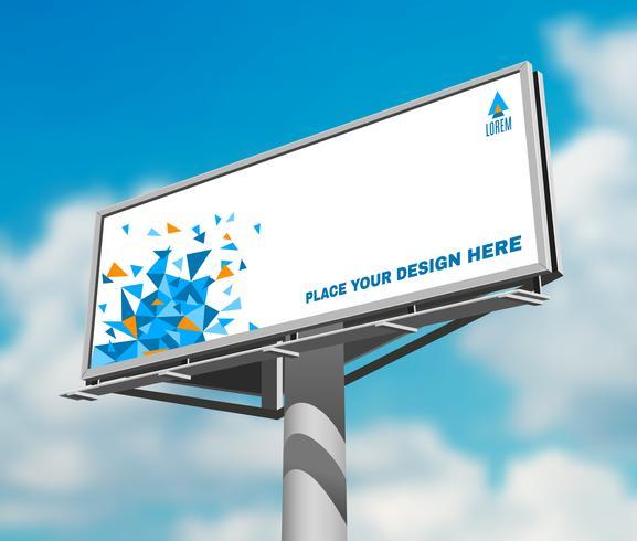 Billboard against sky background day image