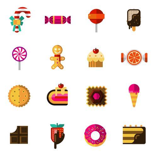 Bonbons Icons Set vecteur