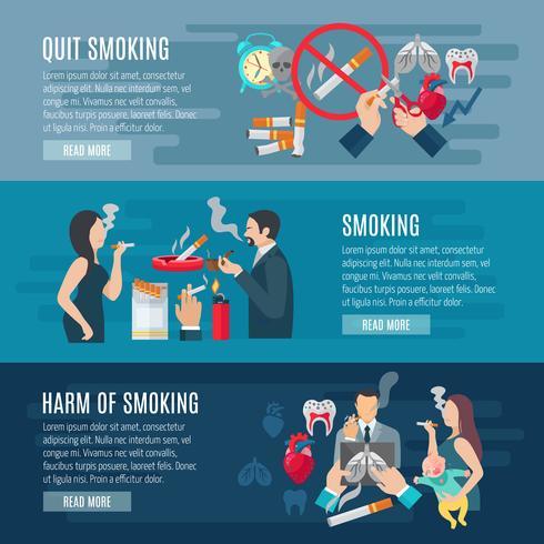 Rökning Banner Set