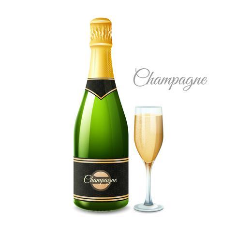 Champagne réaliste Set