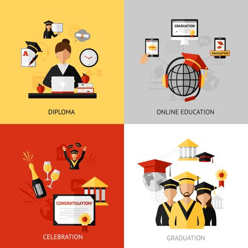 jeu de concept de design de graduation