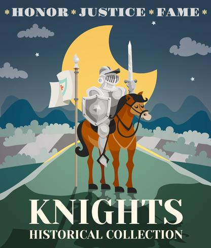 Knight Poster Illustration vector