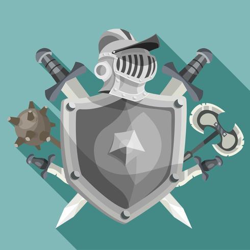 riddare emblem illustration