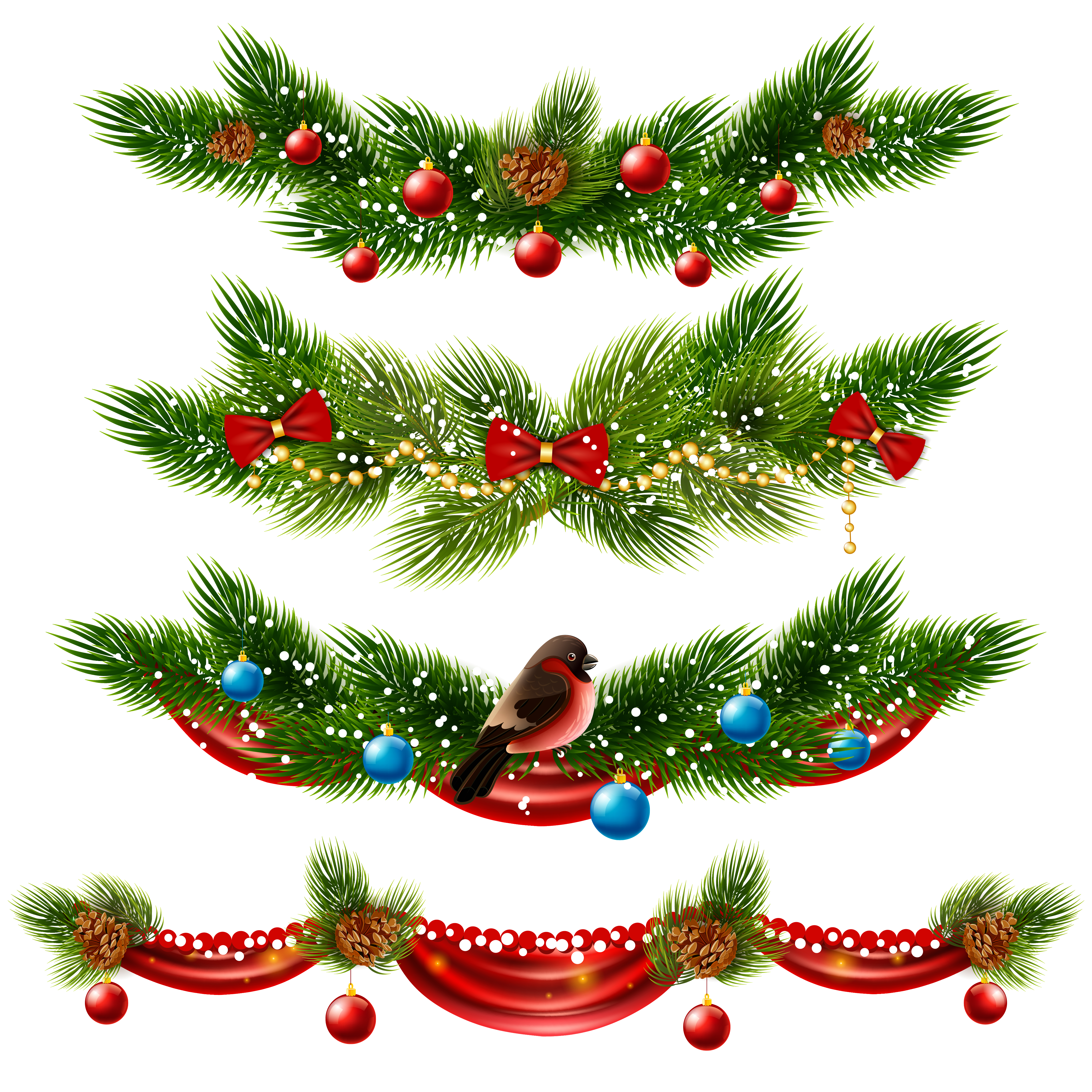 Christmas Borders Set - Download Free