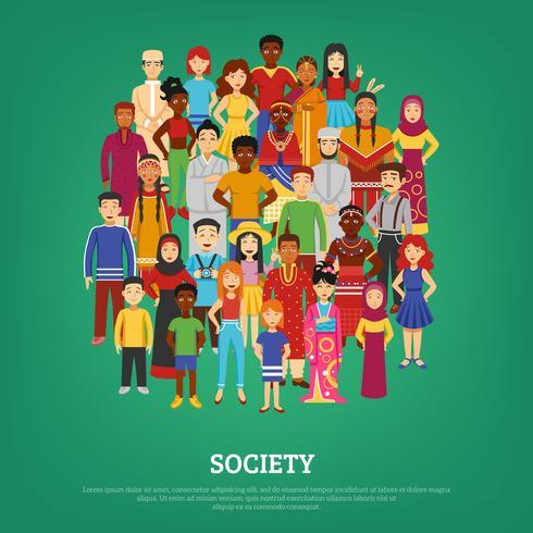 Illustrazione del concetto di società