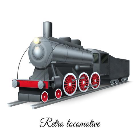 Retro Locomotive Illustration