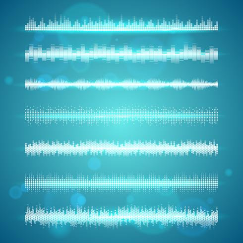 Ondas de sonido muestran conjunto de líneas horizontales